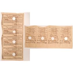Connecticut Loan Receipts, 4 Uncut Sheets   (106470)