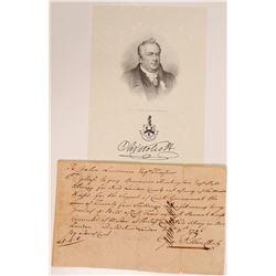 Letter signed by Oliver Wolcott, Declaration Signer   (106569)
