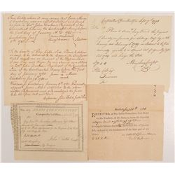 Revolutionary War Documents (4)   (106025)
