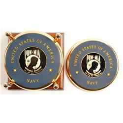 Navy POW Coasters, Set of Four   (88653)
