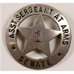 Asst. Sergeant At Arms Senate Badge   (106358)