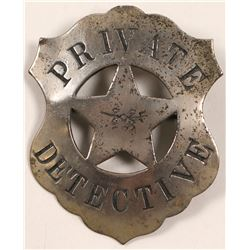 Private Detective Badge   (106362)