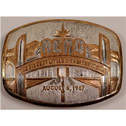 Reno Arch Silver Plate Belt Buckle   (105672)