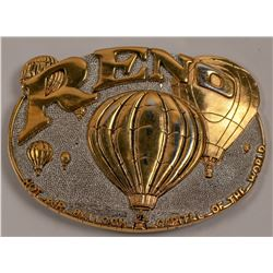 Reno Balloon Gold Plate Belt Buckle   (105669)