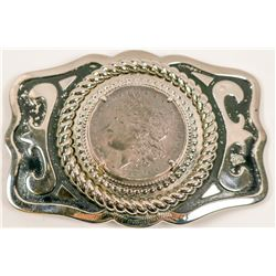 1883 Silver Dollar Belt Buckle   (105671)