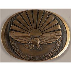 National Wildlife Federation Brass Buckle   (105668)