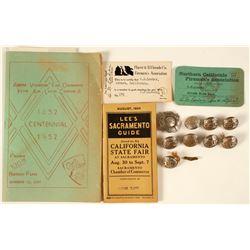 Firemans' Badges & Buttons   (78373)