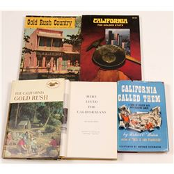 California Gold Rush Books (5)   (106371)