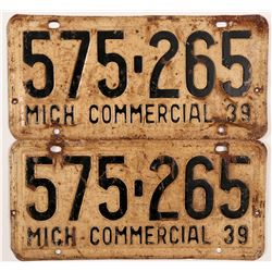 Auto License Plates / Commercial / Michigan.   (105008)
