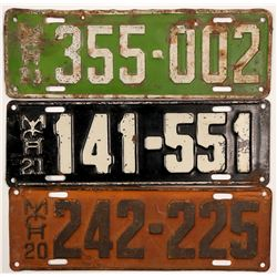 Auto License Plates / Michigan / 3 Items.   (105007)