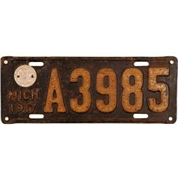 License Plate / Michigan .   (105039)