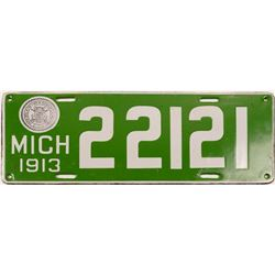 License Plates / Michigan / Government  Plate.   (105012)