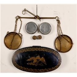 Hand Pan Scale with Weights   (105084)