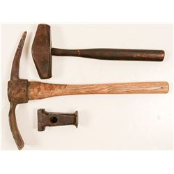 Old Hammer, Pick and Mystery Tool   (105688)