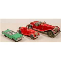 3 Vintage Metal Cars with 2 Hubley Kiddie   (105683)