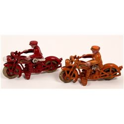 Cast Iron Motorcycles with Bulbs (2)   (106368)