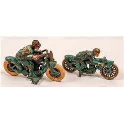 Cast Iron Racing Motorcycle Toys (2)   (106349)