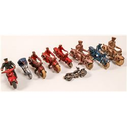 Small Sized Metal Motorcycle Fleet (9)   (106354)