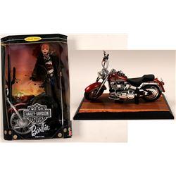 Barbie Doll & Harley -Davidson Motor Cycle    (108159)