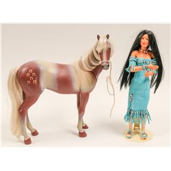 Doll & Horse (Indian Squaw) Contemporary   (105738)