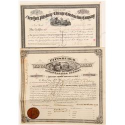 Construction Co. stock certificate / bond    (105168)