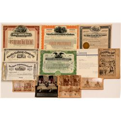 General American Collection: Mining & RR Stocks, Photographs, Colorful Chewing Gum Box and Map   (10