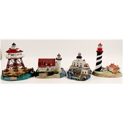 Harbour Lights Lighthouse Miniatures (4)   (106390)
