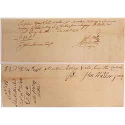 Letter Signed by Jesse Root and Oliver Ellsworth   (106564)