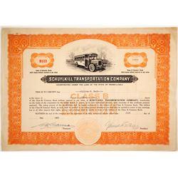 Schuylkill Transporation Stock   (79834)