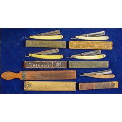Straight Razors (5) and Sharpener   (89346)