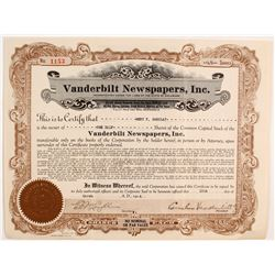 Vanderbilt Newspapers Stock   (83275)
