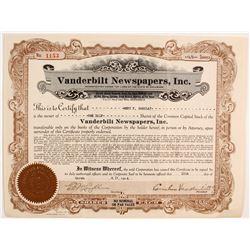 Vanderbilt Newspapers Stock   (83275)