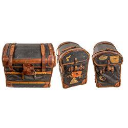 Vintage Camelback Passenger Trunk   (41920)