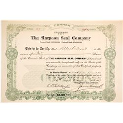 Harpoon Seal Co. Stock, 1913   (88859)