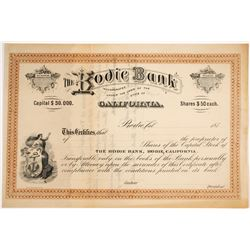 Bodie Bank Stock Certificate   (79766)