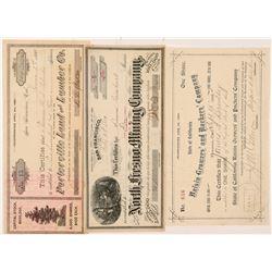Fresno Area Mining & Non-Mining Stock Certificates   (107004)