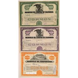 Richfield Oil Company Stock Certificates   (104422)