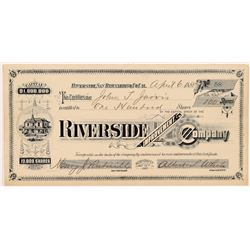 Riverside Improvement Company Stock Certificate   (104398)