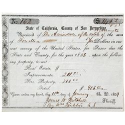 Tax bill for the estate of Aramata, 1858   (58383)