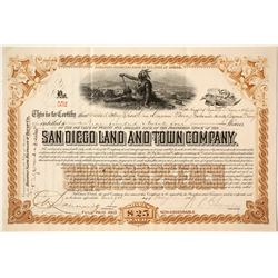 San Diego Land and Town Company Brown Stock   (85269)