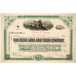 San Diego Land and Town Company Green Stock   (85270)