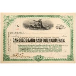 San Diego Land and Town Stock   (105489)