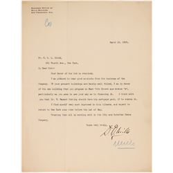 D O Mills Signed Letter   (106502)