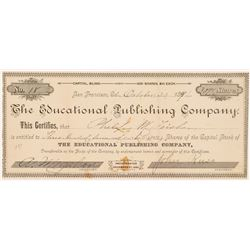 Educational Publishing Company Stock Certificate   (103477)