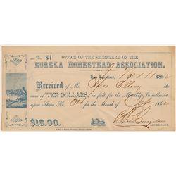 Eureka Homestead Association Scrip!   (103597)
