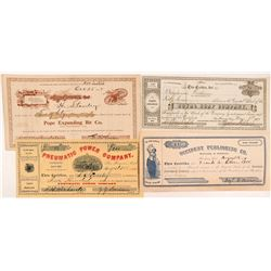 Four Different San Francisco Stock Certificates   (104363)