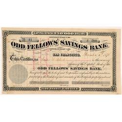 Odd Fellows' Savings Bank Stock Certificate (GT Brown Lith.)   (104403)