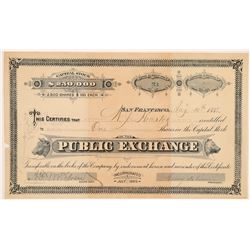 Public Exchange (Company) Stock Certificate (Stock Exchange)   (104401)