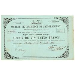 Societe de Commerce de San-Francisco Stock Certificate (Gold Rush)   (104421)