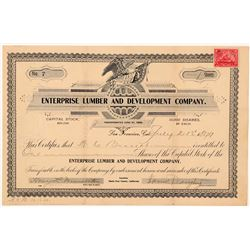 Enterprise Lumber & Development Co. Stock Certificate   (103479)